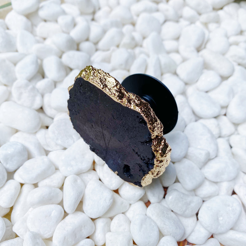 Beauty of Nature Stone Phone Grip shown in black druzy.
