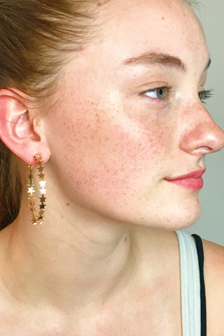 Startastic Earrings, Gold