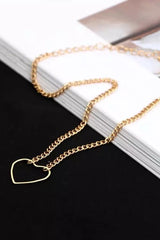 Heart & Chain Choker Necklace