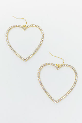 My Precious Heart Earrings, Gold