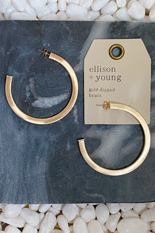 Overall Luxe Round Hoops