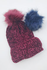 Trendy interchangeable chenille beanie