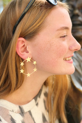 Inner Circle Star Earrings