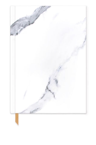 Soft Touch Hardcover Journal, White Marble