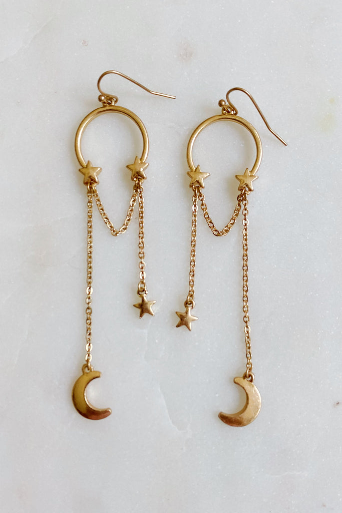 Hung The Moon & Stars Earrings