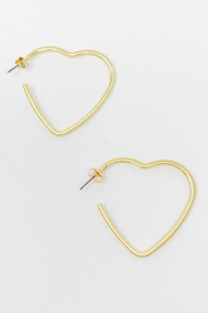 Double The Love Heart Hoops