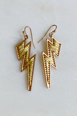Threaded Bolt Earrings, Gold