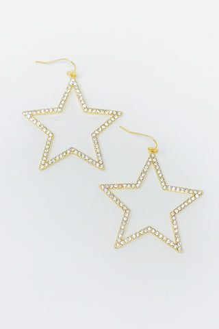 Seriously Stellar Earrings, Gold