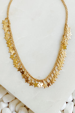 Ruffle Of Stars Necklace