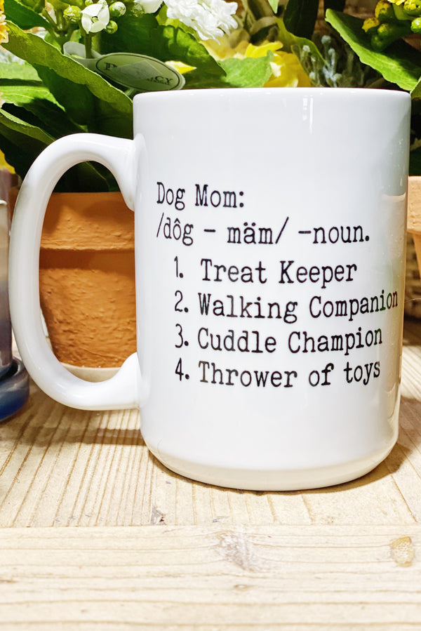 Dog Mom Definition Mug