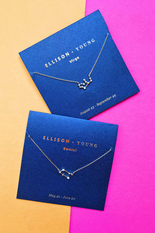 Ellison + Young: Zodiac Necklace Collection