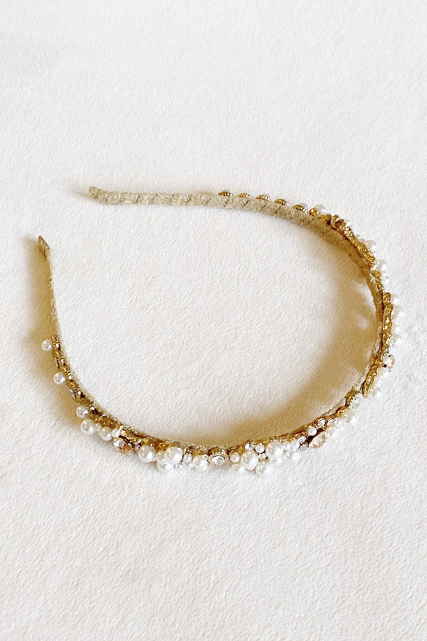 Queen Anne Pearl Headband