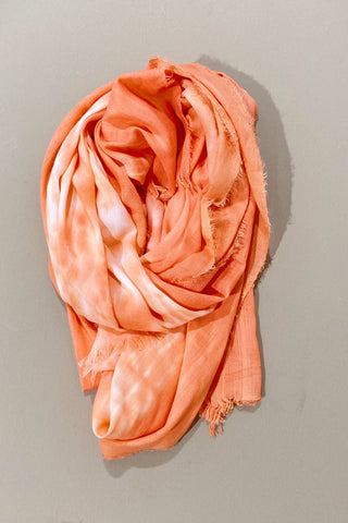 Nostalgic Fantasy Scarf in Tie Dye Orange