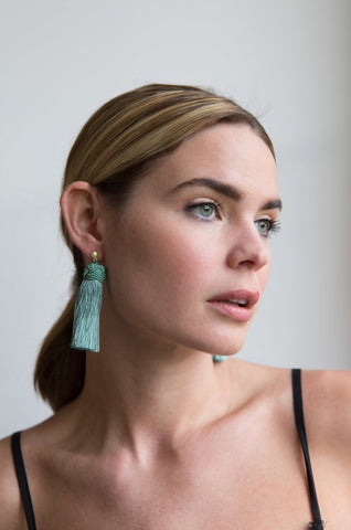 Hart Collection: Tasseled Earrings, Sage