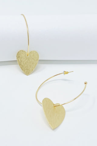 No Games Heart Hoop Earrings