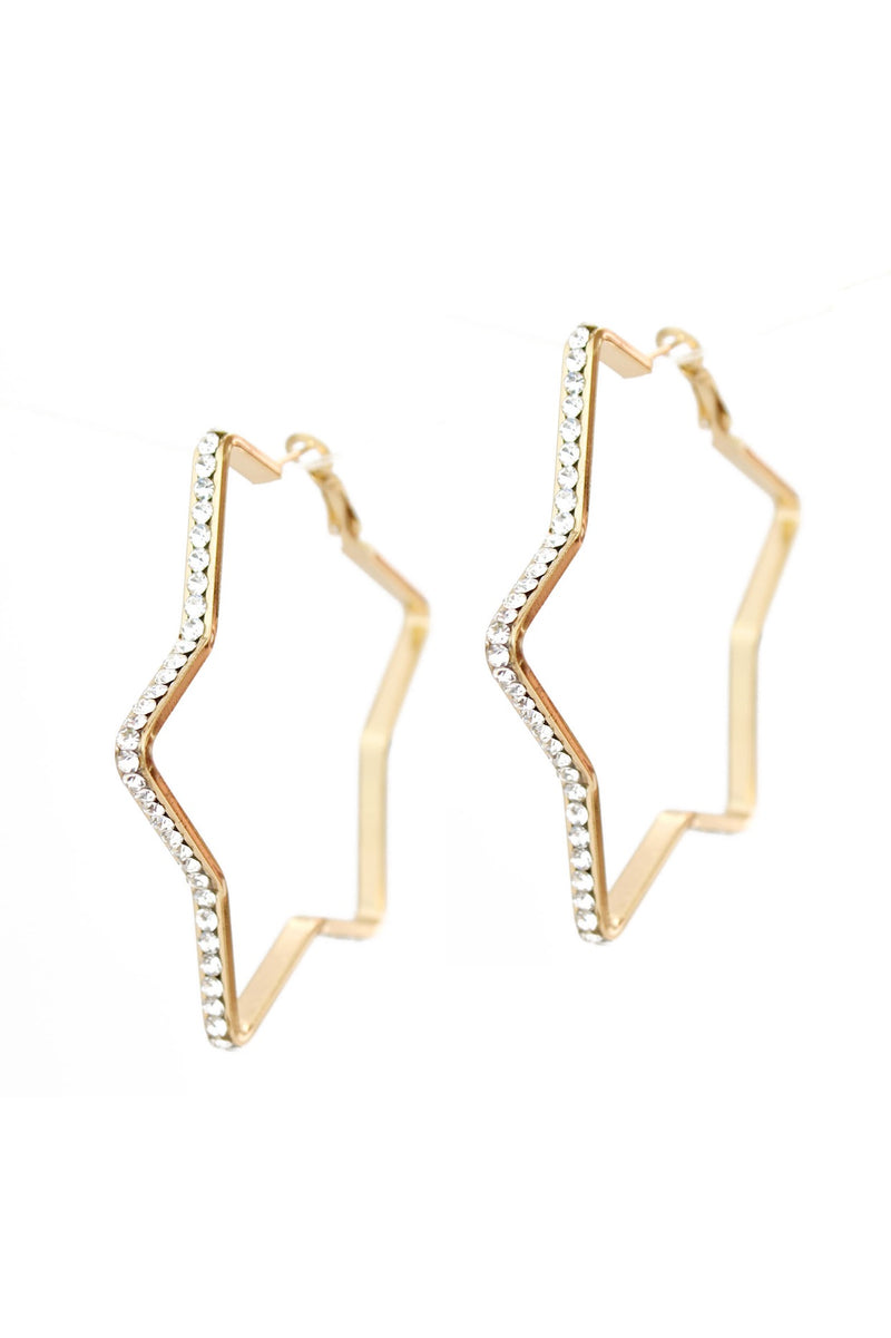 Sparking Stars Earrings, Gold