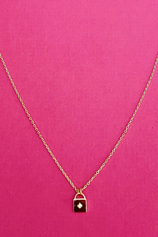 Locked Up Necklace, Gold