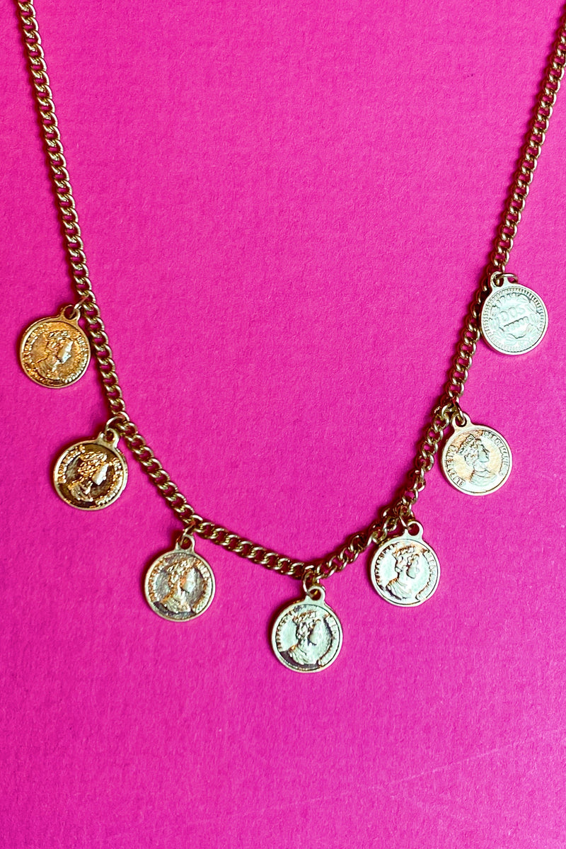 Coin Collector Necklace, Gold