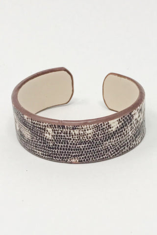 Cecelia Italian Leather Cuff Bracelet