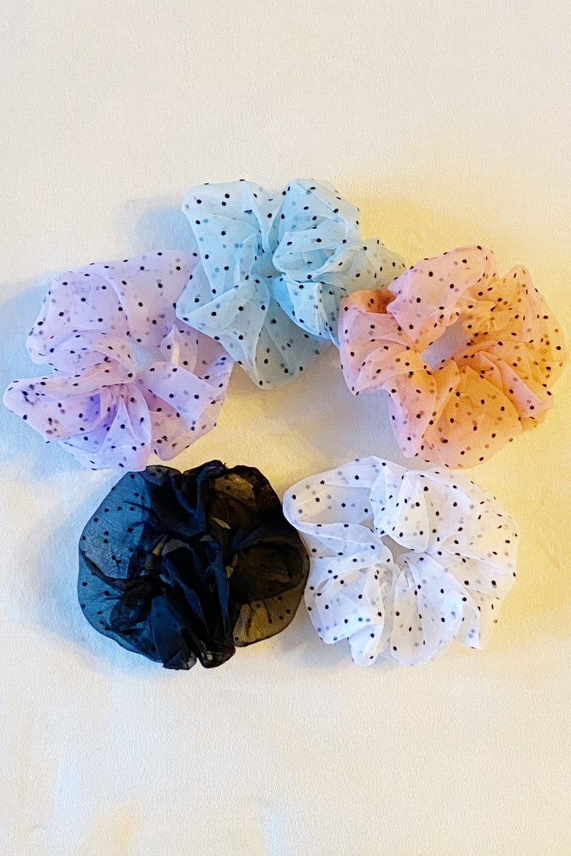 Sheer Romance Polka Dot Scrunchie