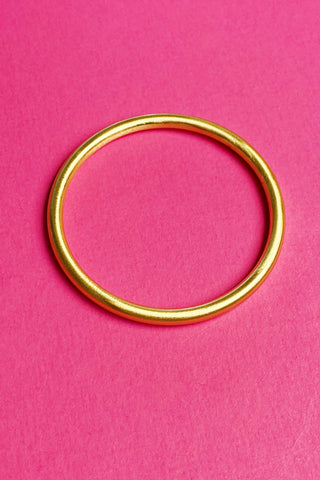 Rounded Edge Metal Pipe Bangles