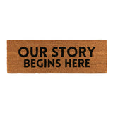 Our Story Coir Door Mat