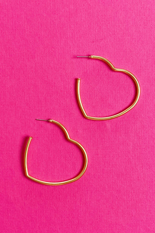 Timeless Hearts Earrings, Gold
