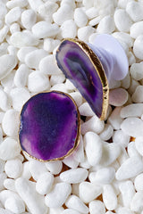 Beauty of nature Stone phone case shown in purple agate.