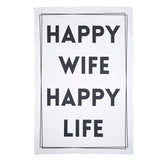 Happy Wife Flour Sack Tea Towel