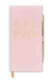 Powder Pink Velveteen Bookcloth Journal With Pen, GRL PWR