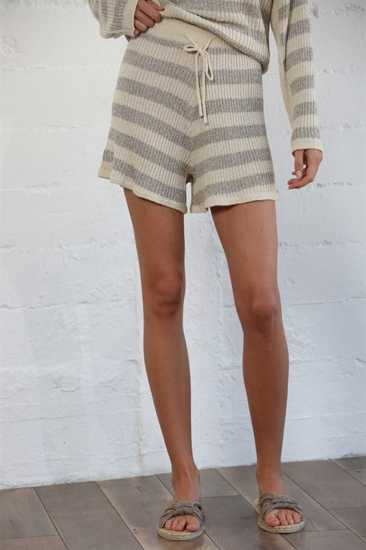 Summertime Lounge Striped Shorts