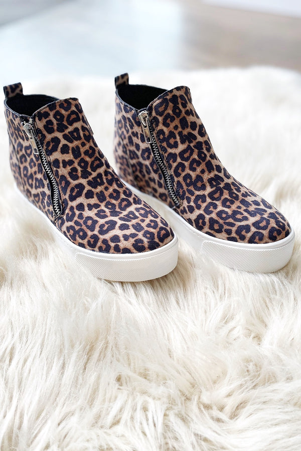 Sneaker Wedge in Oat Cheetah