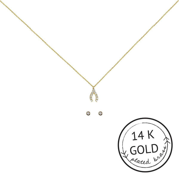 Kitsch: Make A Wish Insta Pave Necklace Set