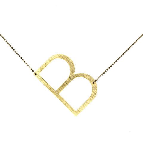 Gold initial necklace for women, Letter necklace, initial pendant, personalized necklaces