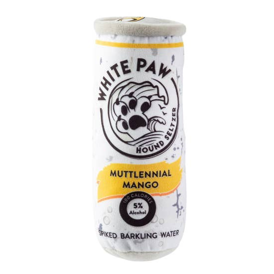 White Paw Muttlennial Mango Dog Toy