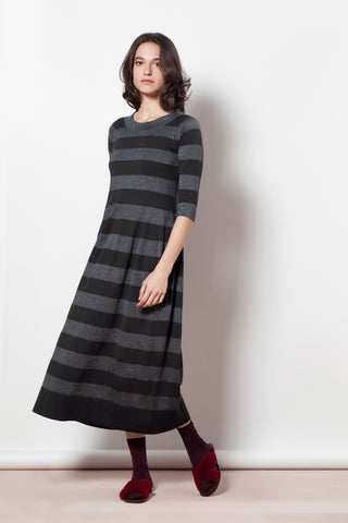 Flared stripy dress