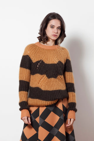 Stripy cloud jumper