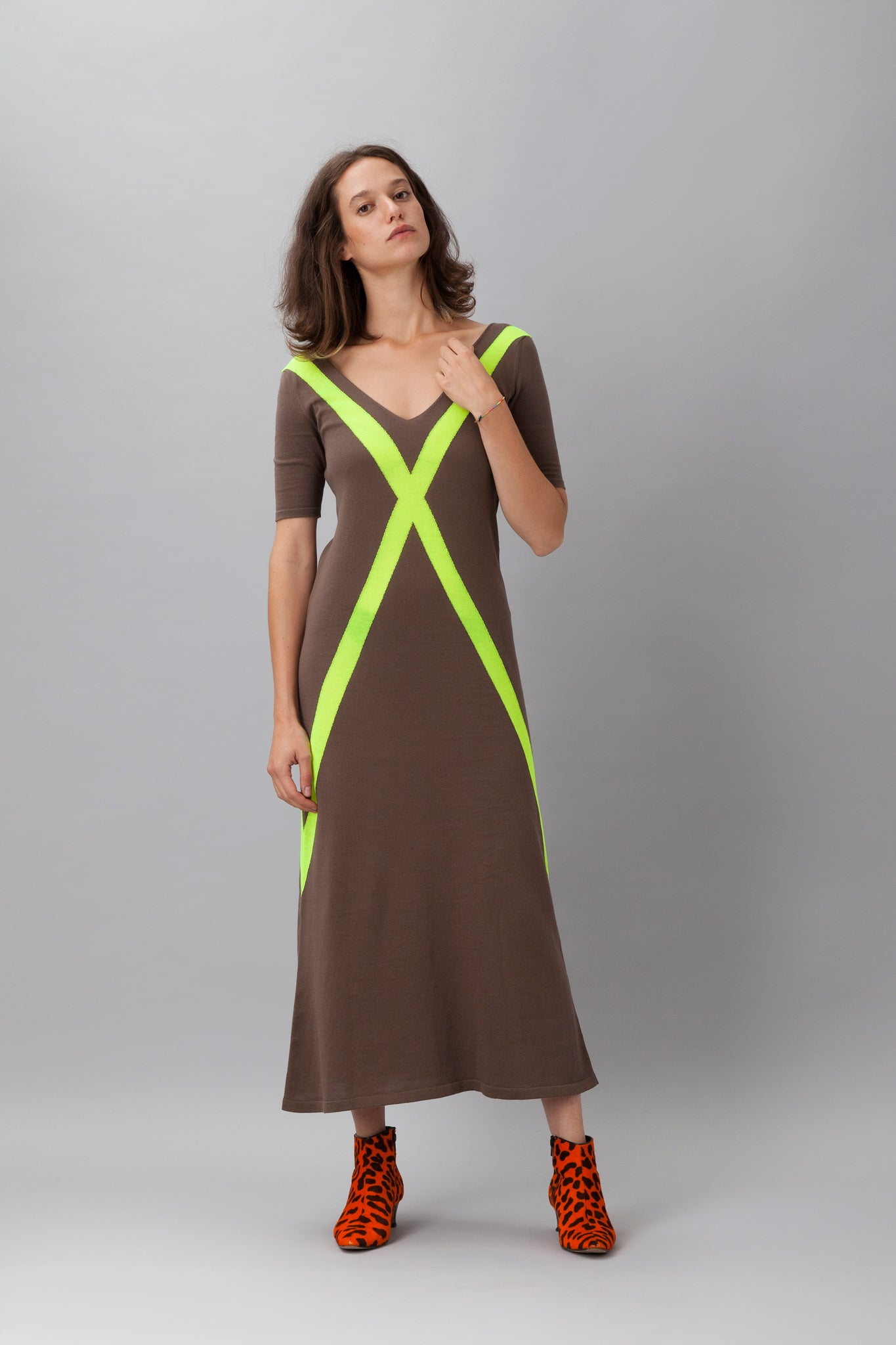 Sartoria Vico + Wait and See<br>Long dress glow - Yellow