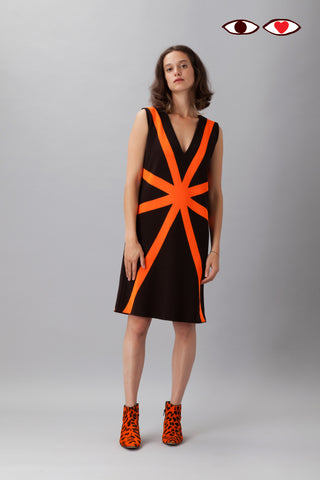 Sartoria Vico + Wait and See<br>Short dress glow - Orange