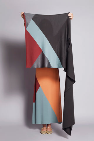Sartoria Vico + Wait and See<br>Kaleidoscopic stole