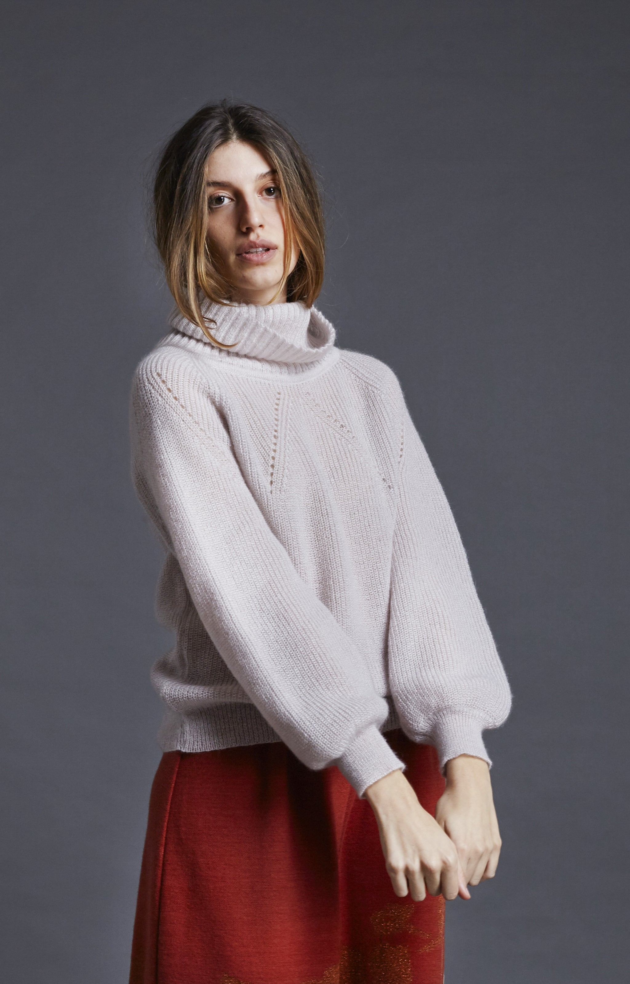 Cloud turtleneck sweater