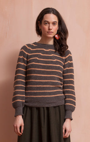 Striped cloud sweater