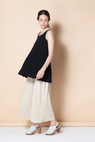 Pleated long top