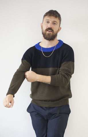 Color-block jumper