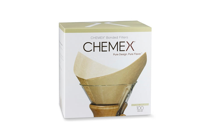 Chemex Square Unbleached Filters - 100ct