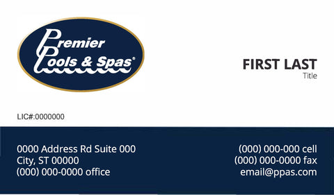 Premier pools spas business cards team premier webstore premier pools spas business cards colourmoves