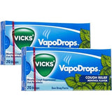 VICKS VAPODROPS | COUGH RELIEF MENTHOL FLAVOR | TWO PACKS OF 20 DROPS