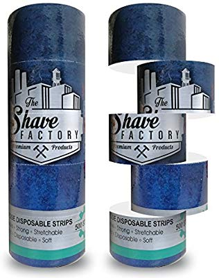 THE SHAVE FACTORY STRIPS | 2 X 500 STRIPS