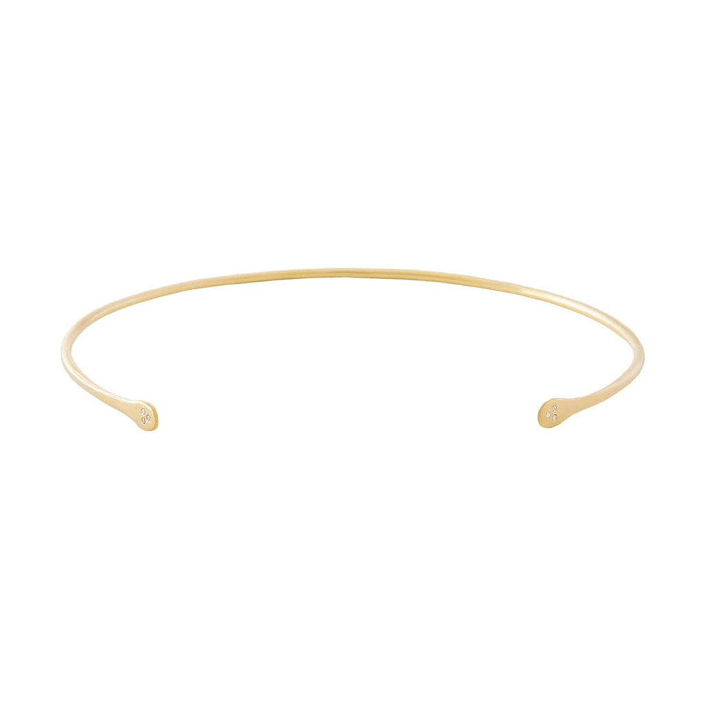 Thin Gold Choker with Diamonds