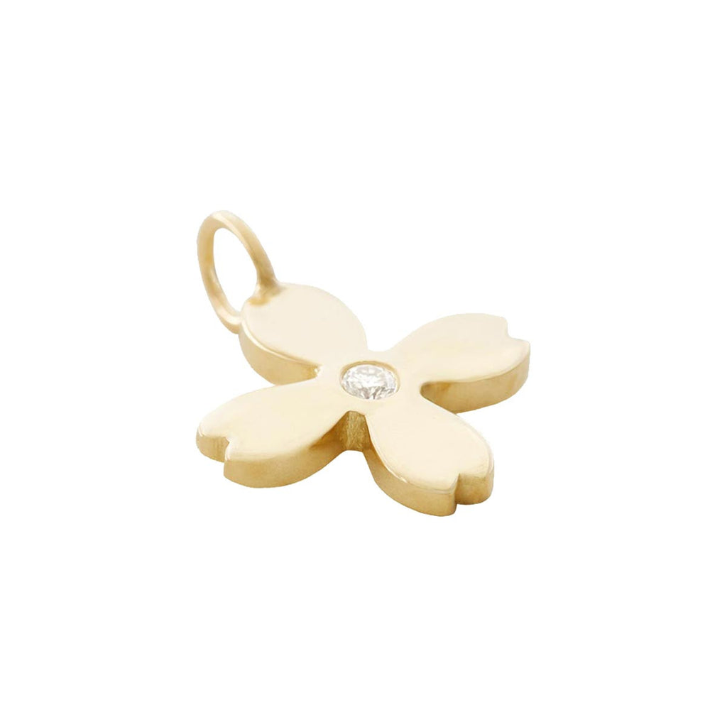 Flower Charm with Diamond